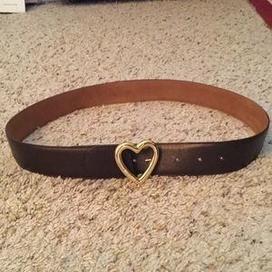 MOSCHINO REDWALL VINTAGE HEART LEATHER BELT, NWOT